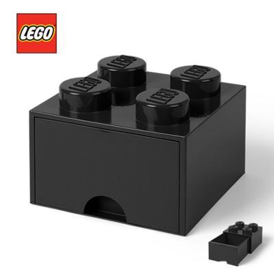 [LEGO]레고 블럭 서랍 정리함 4구_블랙/ 서랍형