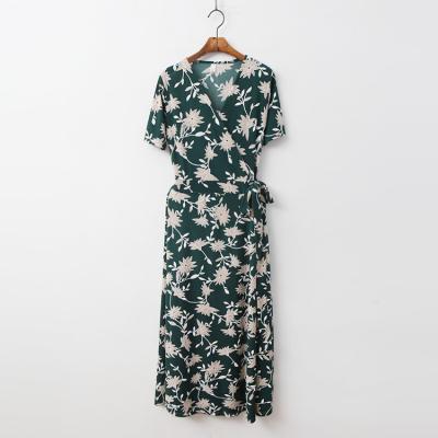 Wildflower Wrap Long Dress - 반팔