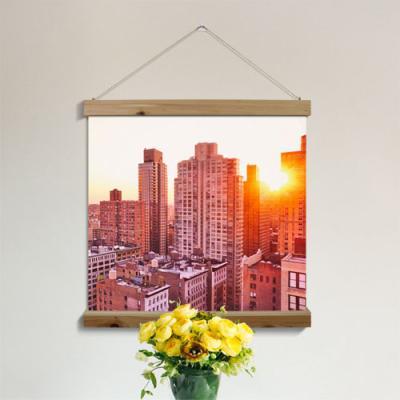 ah254-우드스크롤_60CmX60Cm-뉴욕의일출풍경