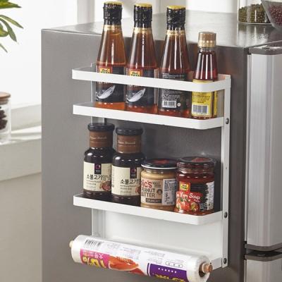 뉴 철제 마그네틱 냉장고 사이드 자석 선반 2단 소형