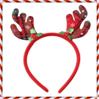 크리스마스 머리띠 모음 파티용품 X-MAS 소품(체크)