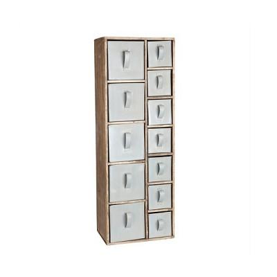 [Hubsch]Box w/12 zincdrawers, wood, nature 880032 서랍장