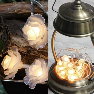 와이어 LED 장식조명 별 구슬 장미