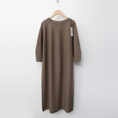 Maille Wool Puff Dress - 7부소매