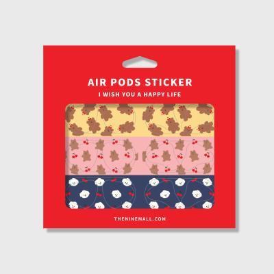 패턴 cherry 에어팟 철가루 방지스티커