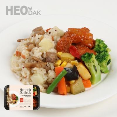 [허닭] 곤약뿌리채소영양밥&숯불닭갈비 도시락 200g