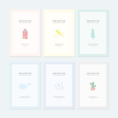 쁘띠 포스트카드 엽서세트 6P