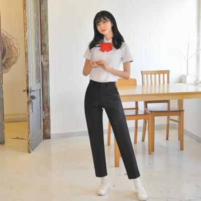 [빅사이즈] 하복 스판 블랙 교복바지(여자) ~6XL