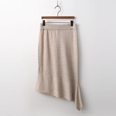 Cashmere N Wool Unbal Skirt