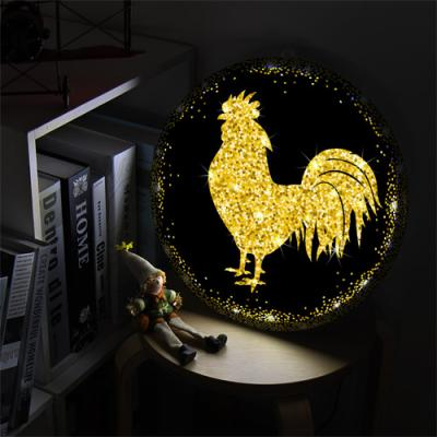 nz002-LED액자35R_풍수재물복황금닭