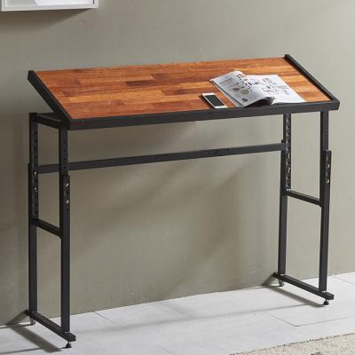 심플라인 철제 멀바우 원목 테이블 1240