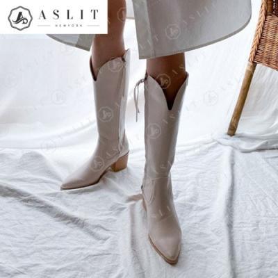 [애슬릿]스틸레토 여성 웨스턴 롱 부츠 4.5cm