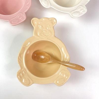 2+1 귀여운 곰돌이그릇 시리얼 베어볼 접시 3color