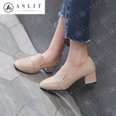 [애슬릿]스퀘어 심플 키높이 여성 로퍼 단화 5cm