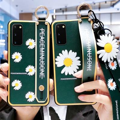 갤럭시s20 + 울트라 국화꽃 스트랩 핸드폰줄 케이스