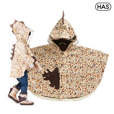 [HAS] 아동 레인코트_판초 3D 트리케라톱스