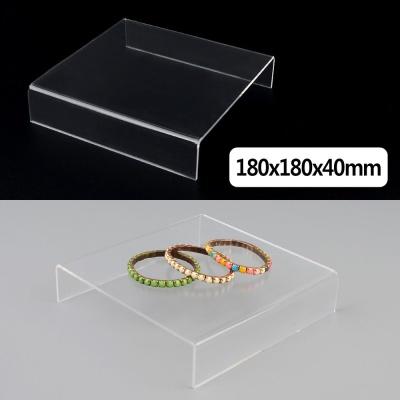 정사각 ㄷ형 아크릴 진열대 180x180x40mm 진열대 제품