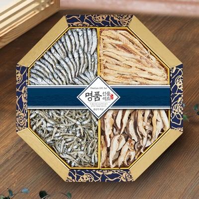 팔각한지함 조림,국물,황태,표고채 선물세트