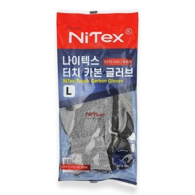 나이텍스 터치 반코팅 코팅 안전 작업용 nbr 장갑 L