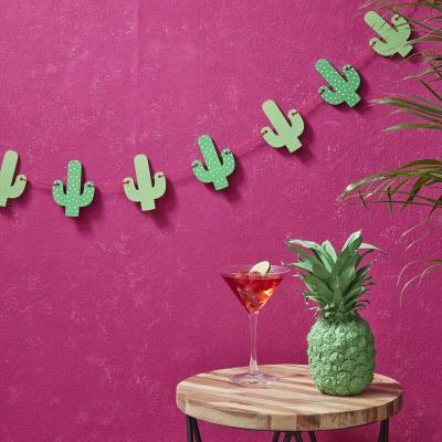 선인장 우드 가랜드 Wooden Cactus Bunting GR
