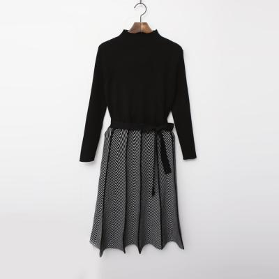 Herringbone Knit Dress