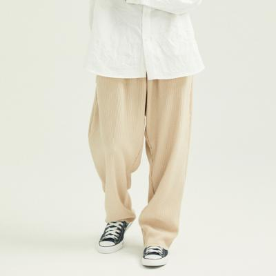 CB WIDE PLEATS PANTS (BEIGE)