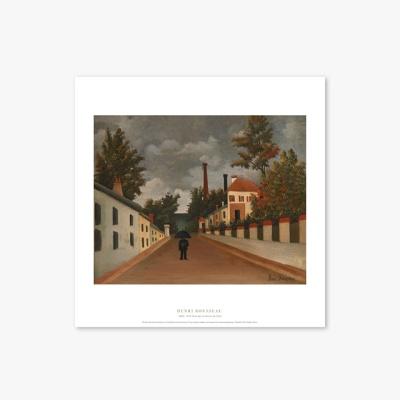 명화 포스터 갤러리 액자 058 Henri Rousseau Vue des environs de Paris