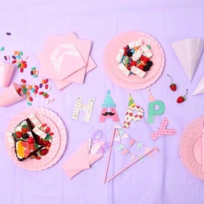 파티테이블셋팅패키지(6인용)-라벤더&핑크