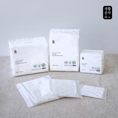 [생활공작소] 유기농 순면 생리대 중형 16P 3입