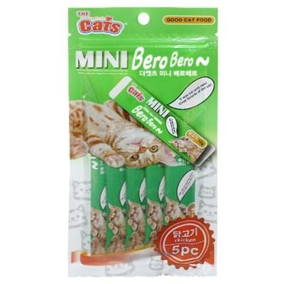 고양이간식시리즈 더캣츠 미니 베로베로 - 닭고기 5pc