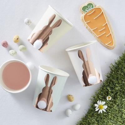 토끼 꼬리 폼폼 종이컵 Easter bunny cup