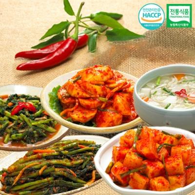 깍두기+열무김치+나박물김치+석박지+갓김치x각1kg