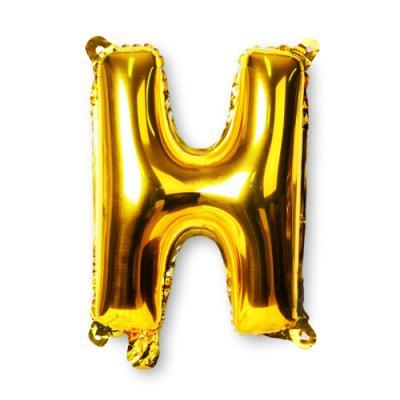 골드 알파벳 풍선-H (1개)