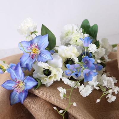 [마쉬매리골드]블루 화이트 꽃다발