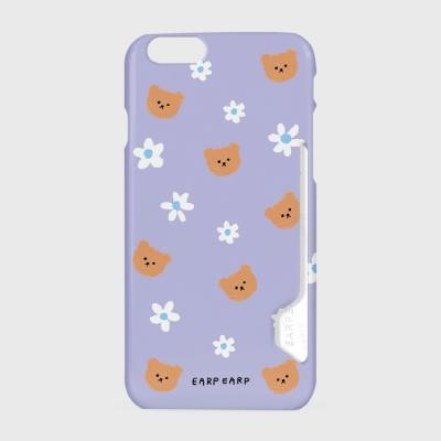 Dot flower bear-purple(카드수납케이스)