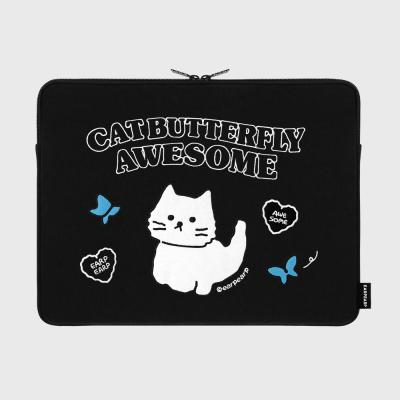 Awesome cat-black-15inch notebook pouch