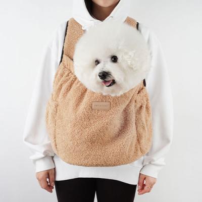 강아지앞가방 강아지백팩 허그프론트 덤블 베이지