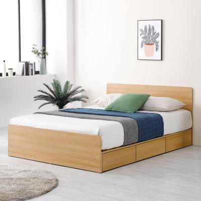 기본 수납 3칸 서랍형 퀸 침대 프레임 Q