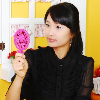 로즈미러 접이식 미니손거울 - 핑크