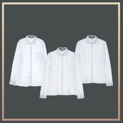 [빅사이즈] 컬러체크 프리미엄 셔츠 3pcs 패키지