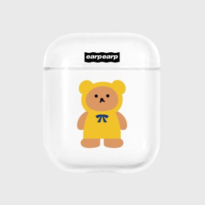 Yellow Little baer sleepers-clear(Air pods)