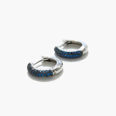 제이로렌 01M02222 블루 큐빅 원터치 링귀걸이