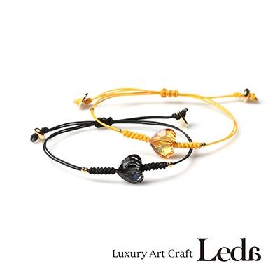 [레다주얼리] 매듭 하트 팔찌 (4color)