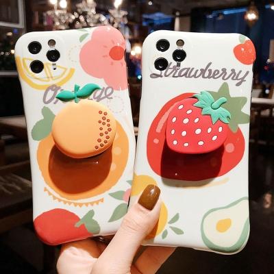아이폰 커플 과일 딸기 오렌지 그립톡 실리콘 케이스