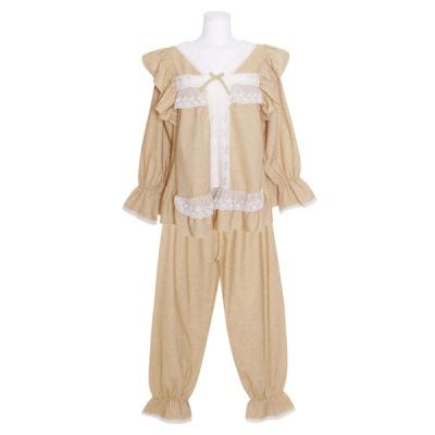 [쿠비카]바스트 이중 레이스 투피스 여성잠옷 W840