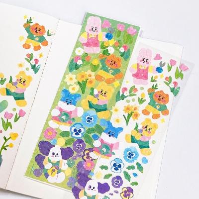 [뽐뽐스튜디오]봄꽃친구들 씰