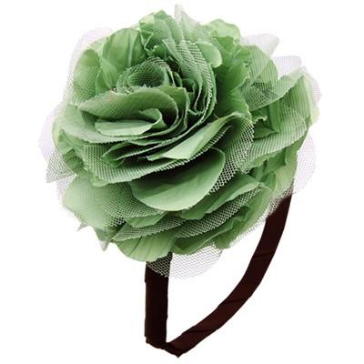 [헤어보우]Lobelia 헤어밴드-Soft Green