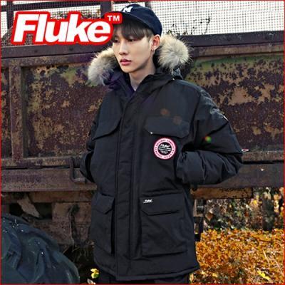 [플루크 패딩] 익스페디션 몬테로사 리얼라쿤 야상 패딩 점퍼 블랙 FPJ1505-BLACK (FP1030) FLUKE 15FW