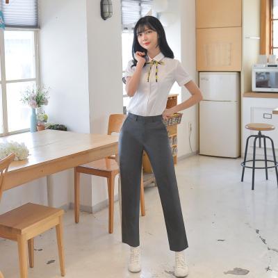 [빅사이즈] 하복 스판 진그레이 교복바지(여자) ~6XL