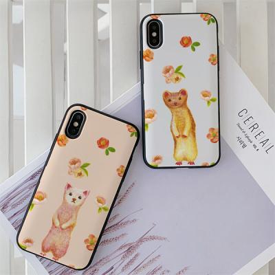 아이폰7플러스 딩그레이 패럿커플 카드케이스